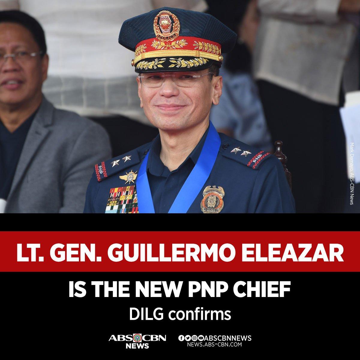 Si PNP Chief Guillermo Eleazar, ang bagong PNP Chief ng Pilipinas at ika-anim na PNP Chief sa ilalim ng administrasyong Duterte.