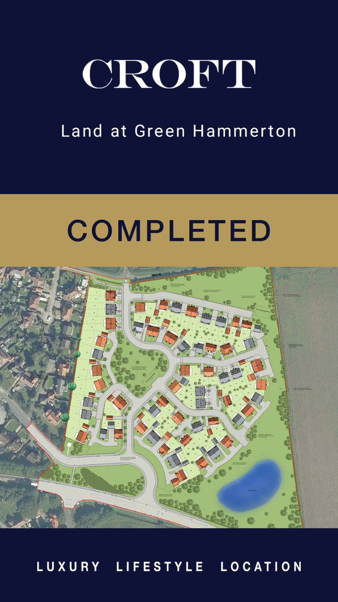 LAND DEAL DONE! Our expertise is NOT JUST in selling Yorkshire's finest houses...we also sell and buy the finest parcels of development land. e.g. This site for 80 units in the golden triangle!  Just another thing we do! #landdeals #development #landdevelopment #landsales https://t.co/AsoYTjDjtj