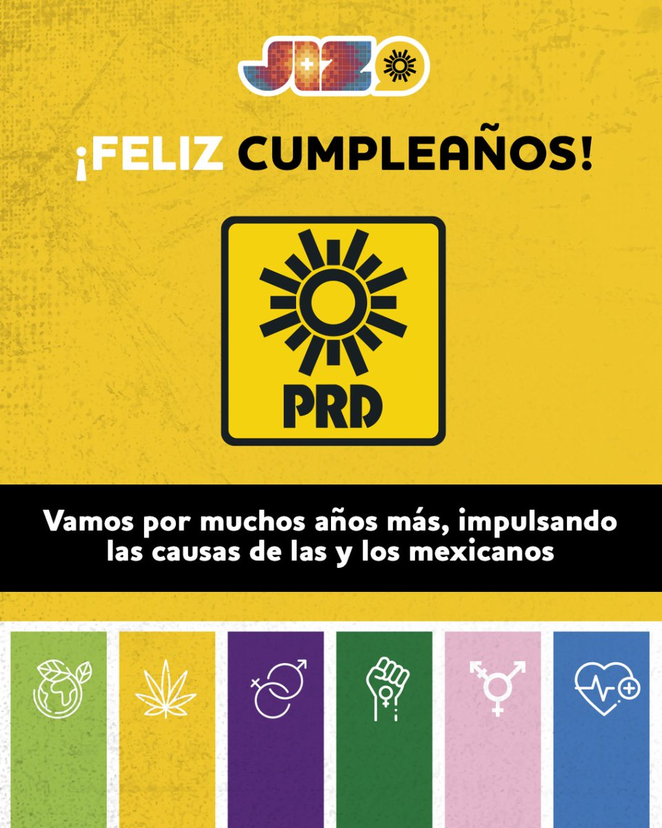 Durante 32 años, el @PRDMexico ha sido el partido de la gente; de la diversidad, la pluralidad y los derechos.  ¡Feliz cumpleaños PRD! ¡Vamos por muchos más!  #PorElSolDeMañana ☀️ 🥳 https://t.co/2fHXsaXiXn