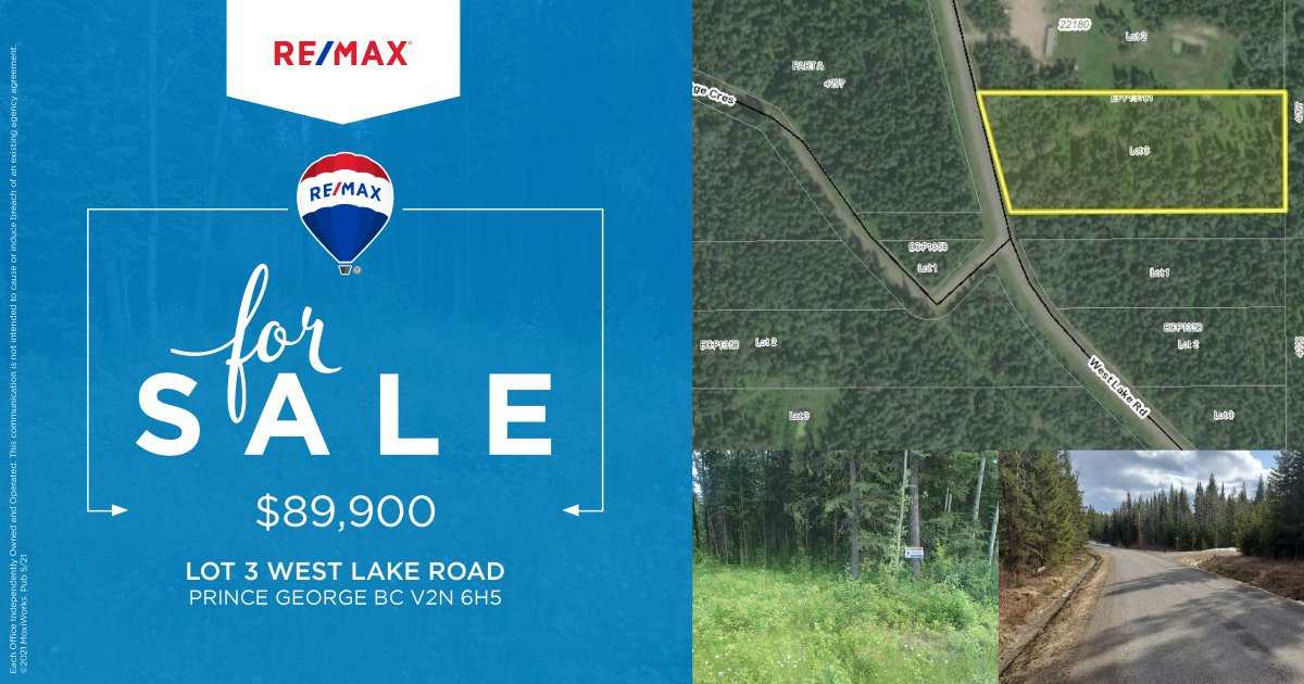 Lot 3 West Lake Rd ~ $89,900 ~Affordable lot near the lake!! ~Build your dream home, manufactured homes allowed!! ~Shared well ~20 minutes to amenities  Call for more information: Jennifer Gowan RE/MAX Core Realty 250-640-4642 #buildyourdream #jengowanremax #Realtor #Remax https://t.co/FYonN4I7tf