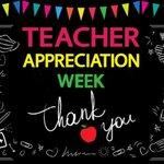 Image for the Tweet beginning: This week is 'Teacher Appreciation