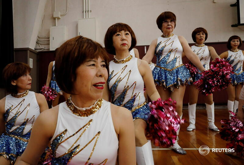 Pompoms rustle and silver shoes flash as the 'Japan Pom Pom' senior cheer squad practices, moving to a lively cheer dance beat. With members ages 60 to 89, they're no ordinary squad. More photos: https://t.co/8HnxPiMLZ1 📷 Kim Kyung-Hoon https://t.co/tYaA3R7eGQ