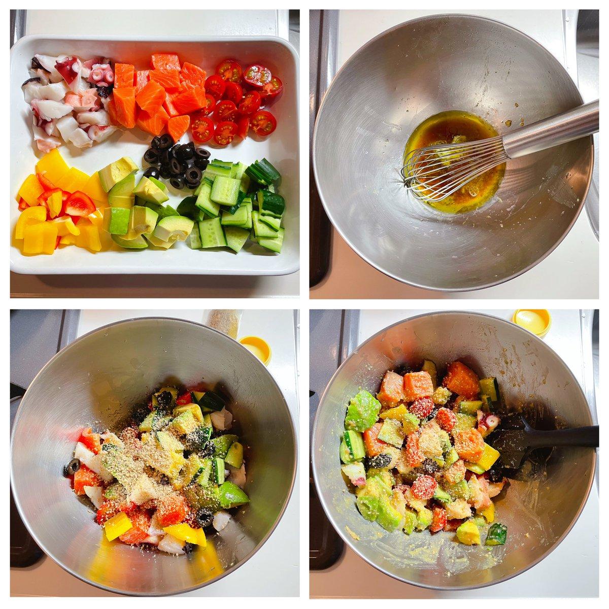 簡単に作れてリピート確実!夏に向けて食べたくなる海鮮サラダのレシピがこちら!