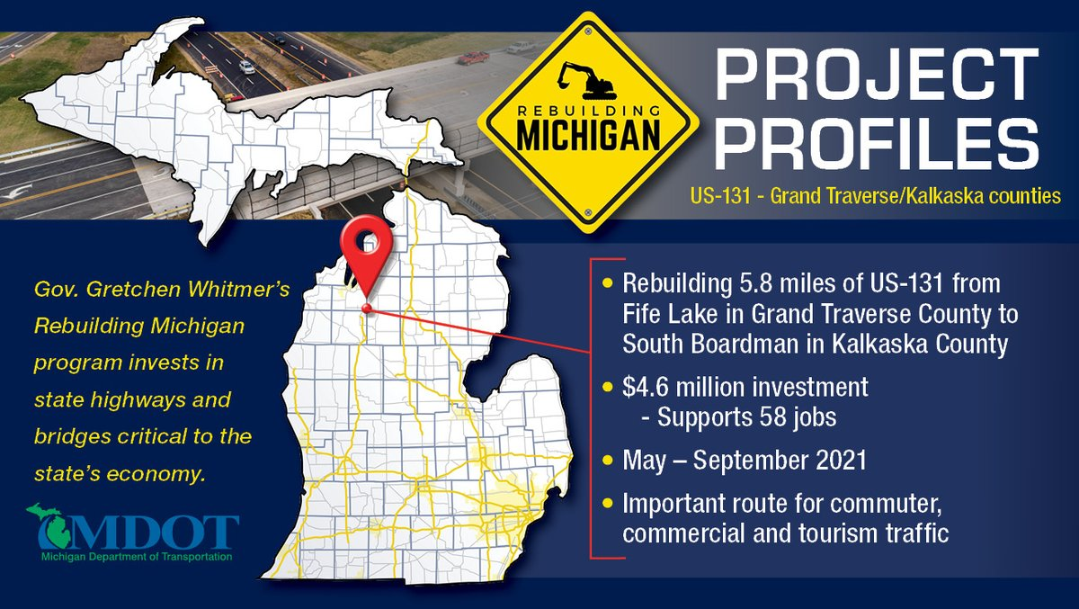Image posted in Tweet made by Michigan DOT on May 5, 2021, 1:40 pm UTC