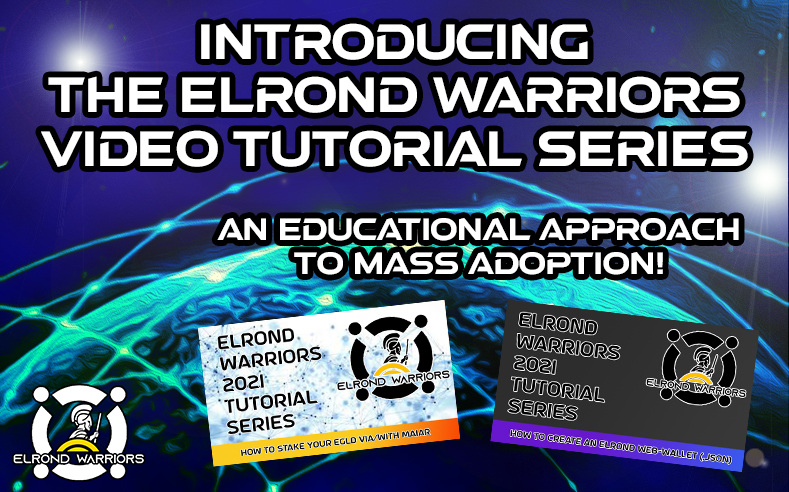 $eGLD Warriors we believe education is vital in this space, so we, along with @egldlife are putting together an educational series of tutorials to do just this.  Please be sure to subscribe to our YouTube channel to stay informed  Knowledge is power 💪  https://t.co/HGSTOsR1sF https://t.co/SwaaJ6Lbdg