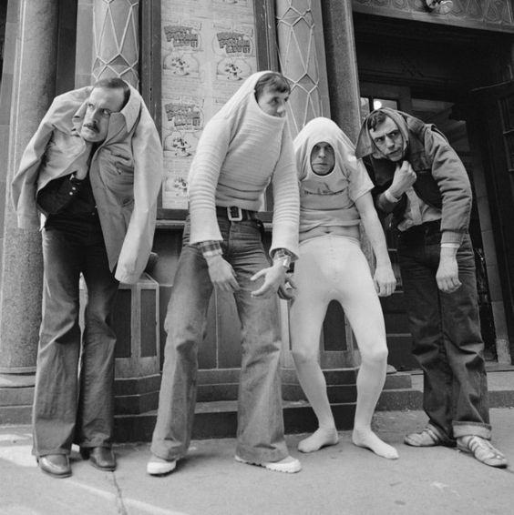 A very happy 78th birthday to Michael Palin, pictured here with John Cleese, Terry Gilliam & Terry Jones, c.1976