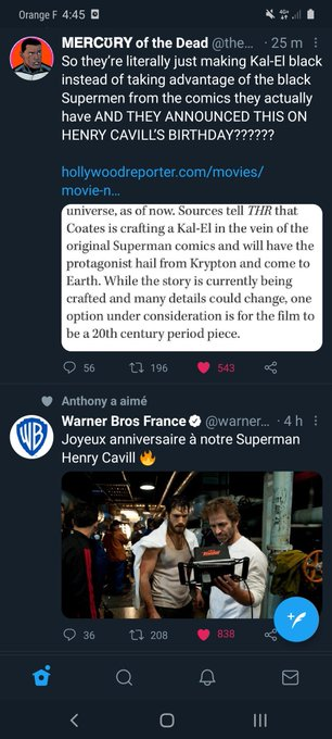 """i fucking hate this the post says \""""Happy BirthDay to our Superman Henry Cavill\"""" i fucking hate this"""