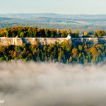 Image for the Tweet beginning: The Königstein hilltop fortress has