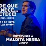 Image for the Tweet beginning: ¡Mañana estará con nosotros el