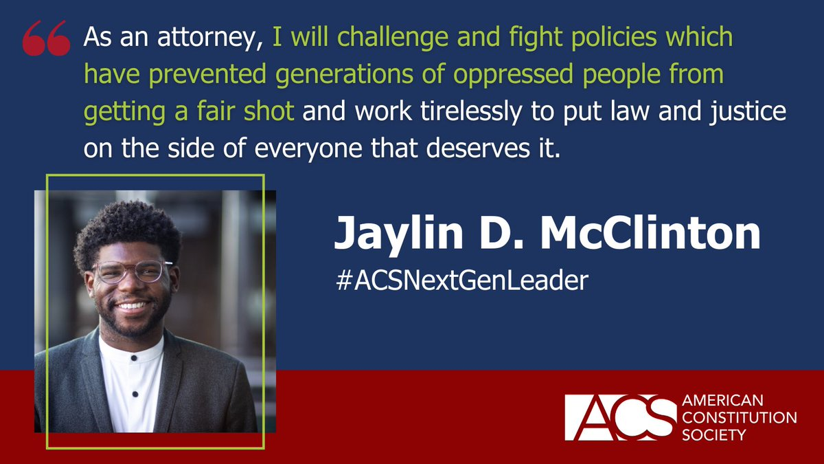 Welcome the next generation of progressive legal leaders with a RT! ACS's Next Generation Leaders (NGL) are emerging professionals who have demonstrated exceptional skills, ability, and special leadership qualities: https://t.co/0dm4nfzcZe #ACSNextGenLeader https://t.co/9dHRYxcMP9