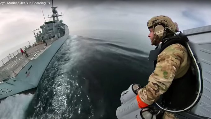 WATCH: British Royal Marines testing jetpacks that can reach speeds of 80 mph Photo