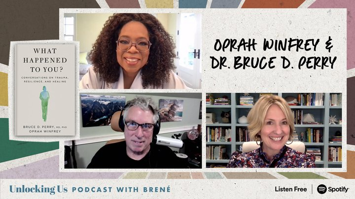 """This week I'm talking to @Oprah and Dr. @BDPerry  about their new book, """"What Happened to You?"""" We define trauma, why big and small traumas activate our stress response and create emotional, physical, and social consequences, and the path to healing."""