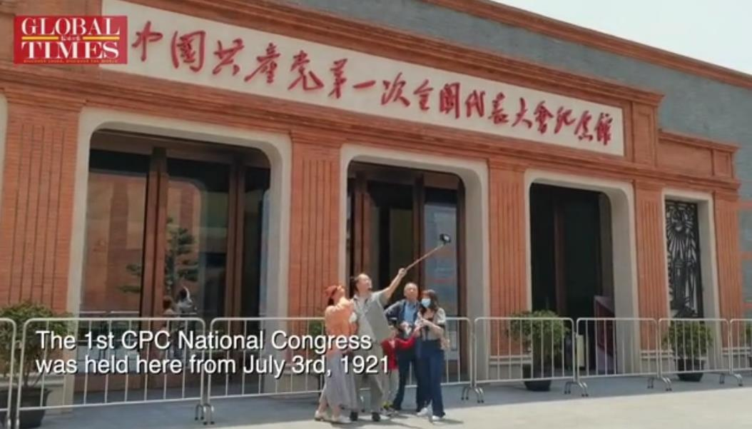 """On the 100th anniversary of the #CPC, historic sites and landmarks attracted tourists during the May Day holidays. Sand sculptures showing CPC history, helicopters that take tourists to scenic spots… people chose a number of ways to enjoy their """"Red Journey."""" https://t.co/79xhjeIKaB"""