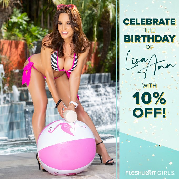 Celebrate Fleshlight Girl @thereallisaann's birthday ALL MONTH with 10% off her Fleshlight by using coupon