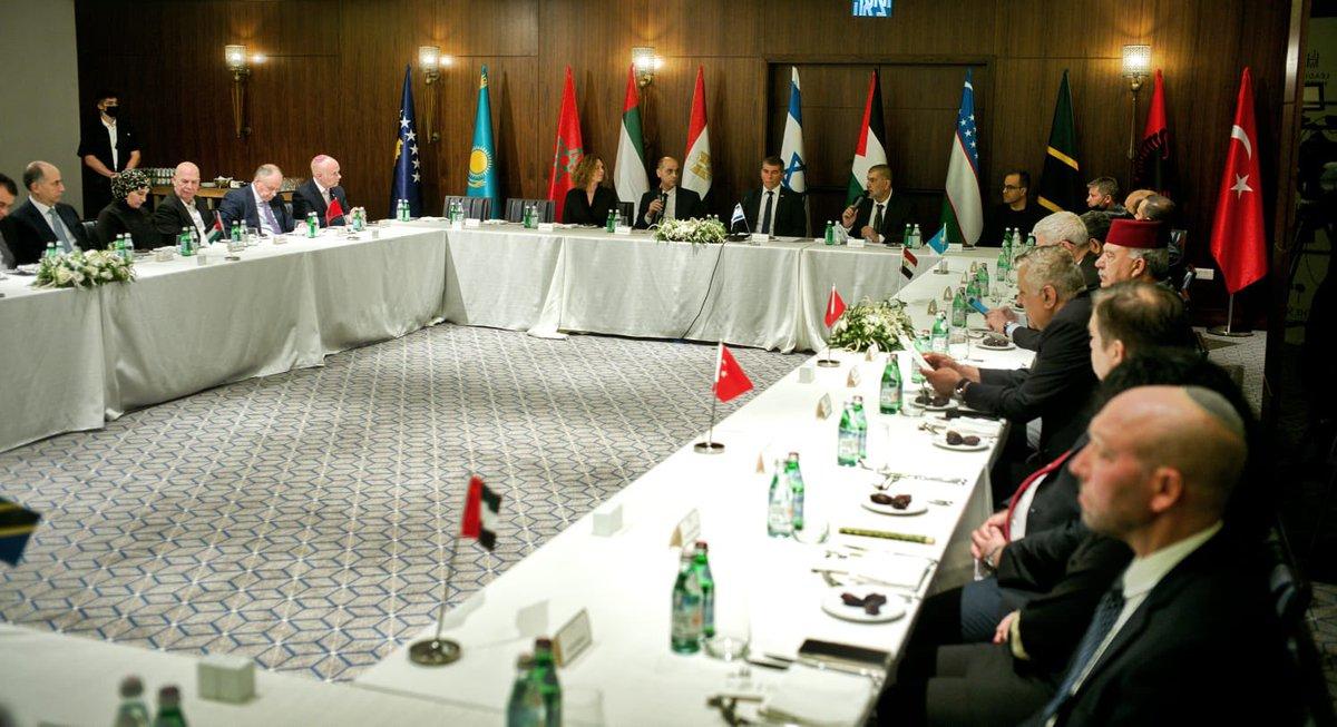 "اسرائيل في البحرين ""  What a beautiful evening. Foreign Minister @Gabi_Ashkenazi hosted an Iftar meal…"