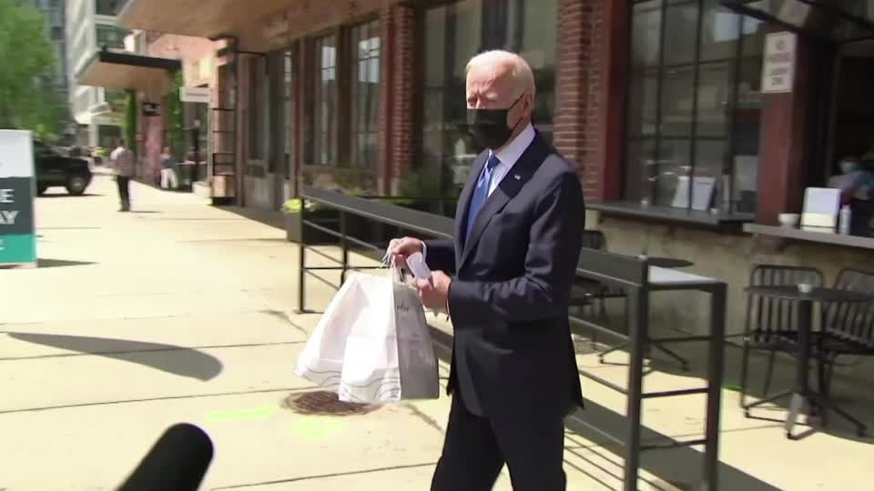 President Joe Biden was visiting the restaurant 'Taqueria Las Gemelas' for a take-out lunch on Cinco de Mayo when asked by a reporter if he had comments on 'efforts to oust Liz Cheney.' Biden replied, 'I don't understand the Republicans.' More here: https://t.co/QuseHrqU8X https://t.co/i1GxgYgB0b
