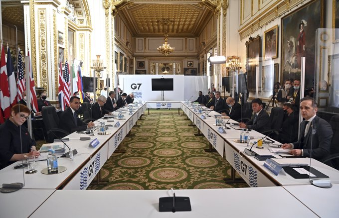 G-7 calls out China over rights at virus-shadowed meeting Photo