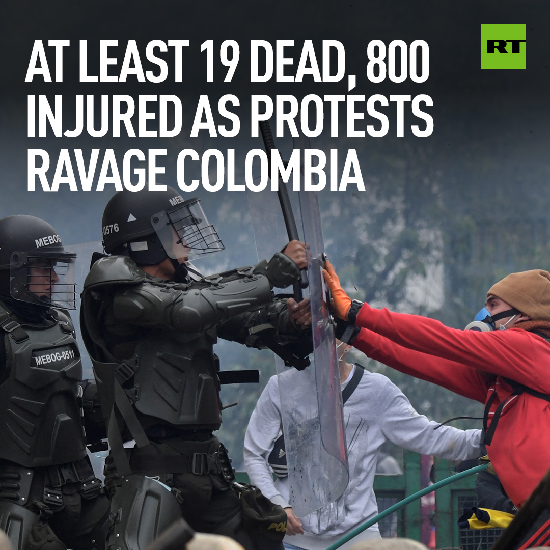 Heated demonstrations over a proposed tax reform in Colombia have continued even after the government pulled the controversial bill, reignited by the death of a young activist reportedly shot in the head by police FULL STORY: https://t.co/7mL6I6rfou https://t.co/0gEBxVQala