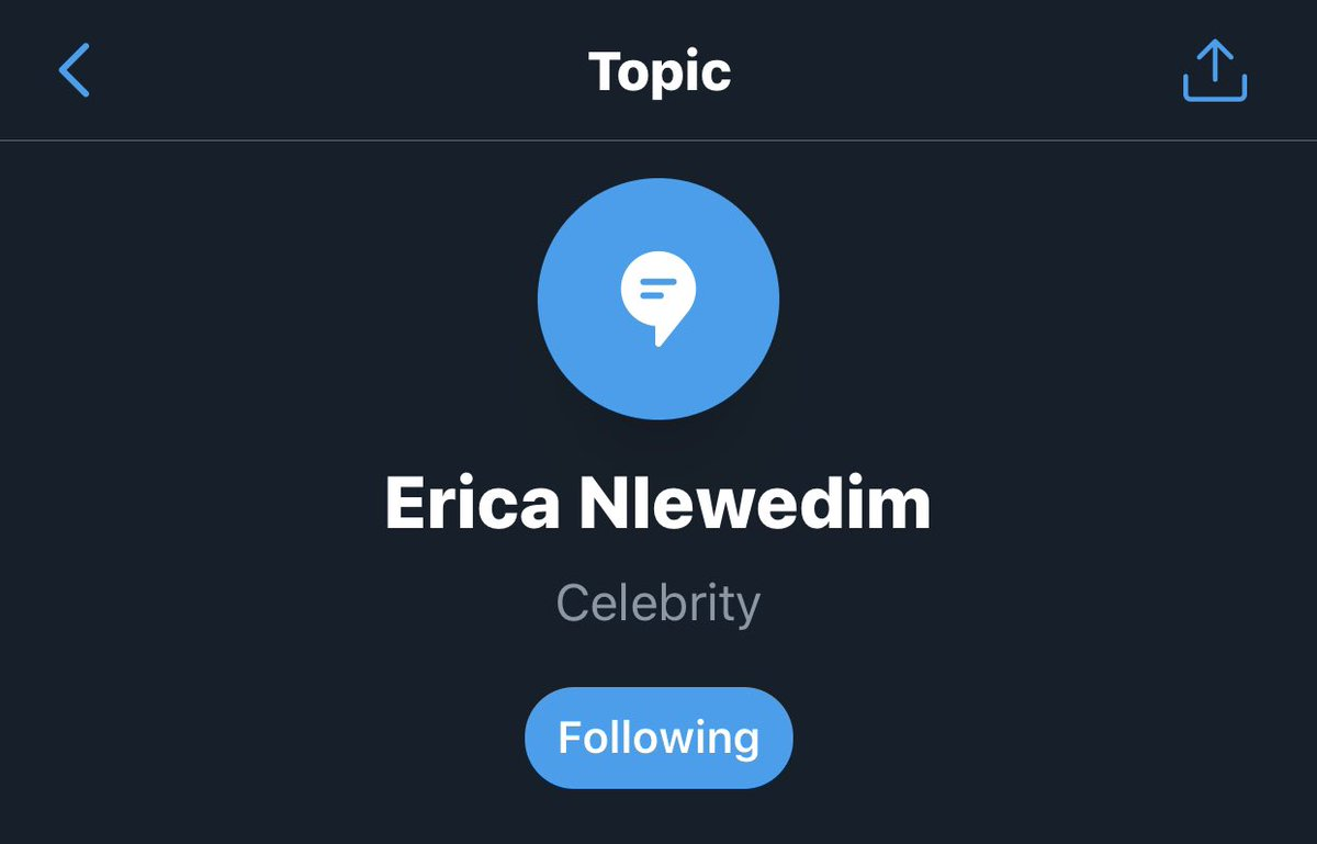Tell a friend to tell a friend that @EricaNlewedim is now a Twitter topic, Twitter recognized her as a celebrity and had to create a space where you can follow her discussions, Elites don't stop talking about Erica. My baby is huge huge🕺🕺 https://t.co/VN7SK6pZmO