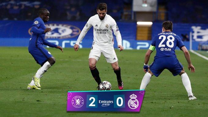 Skor akhir Chelsea 2-0 Real Madrid