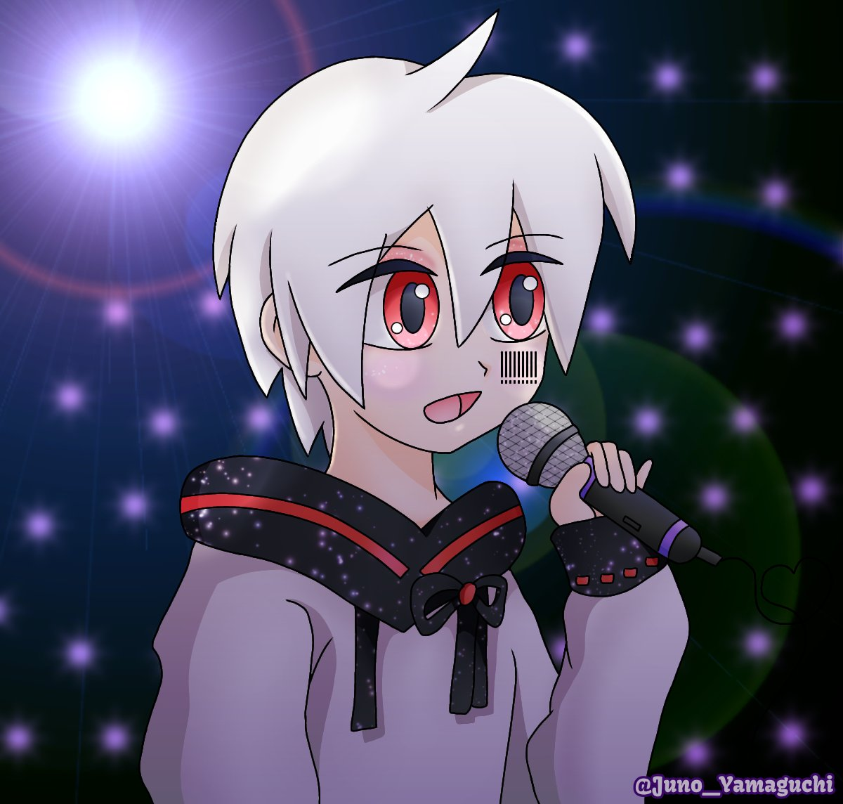 I drew my favorite moment from the Mafumafu's concert. I love his music. Receive my support always. 💖💖  #mafumafu #utaite #drawing #まふまふ #まふまふ東京ドーム前夜祭 #まふまふ東京ドーム #まふあーと