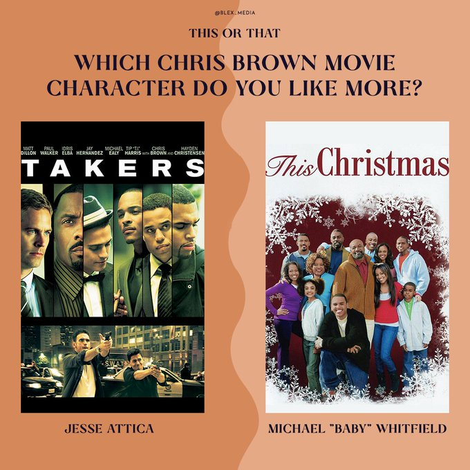 Happy Birthday Chris Brown! Out of Takers and This Christmas, which of his characters did you like more?