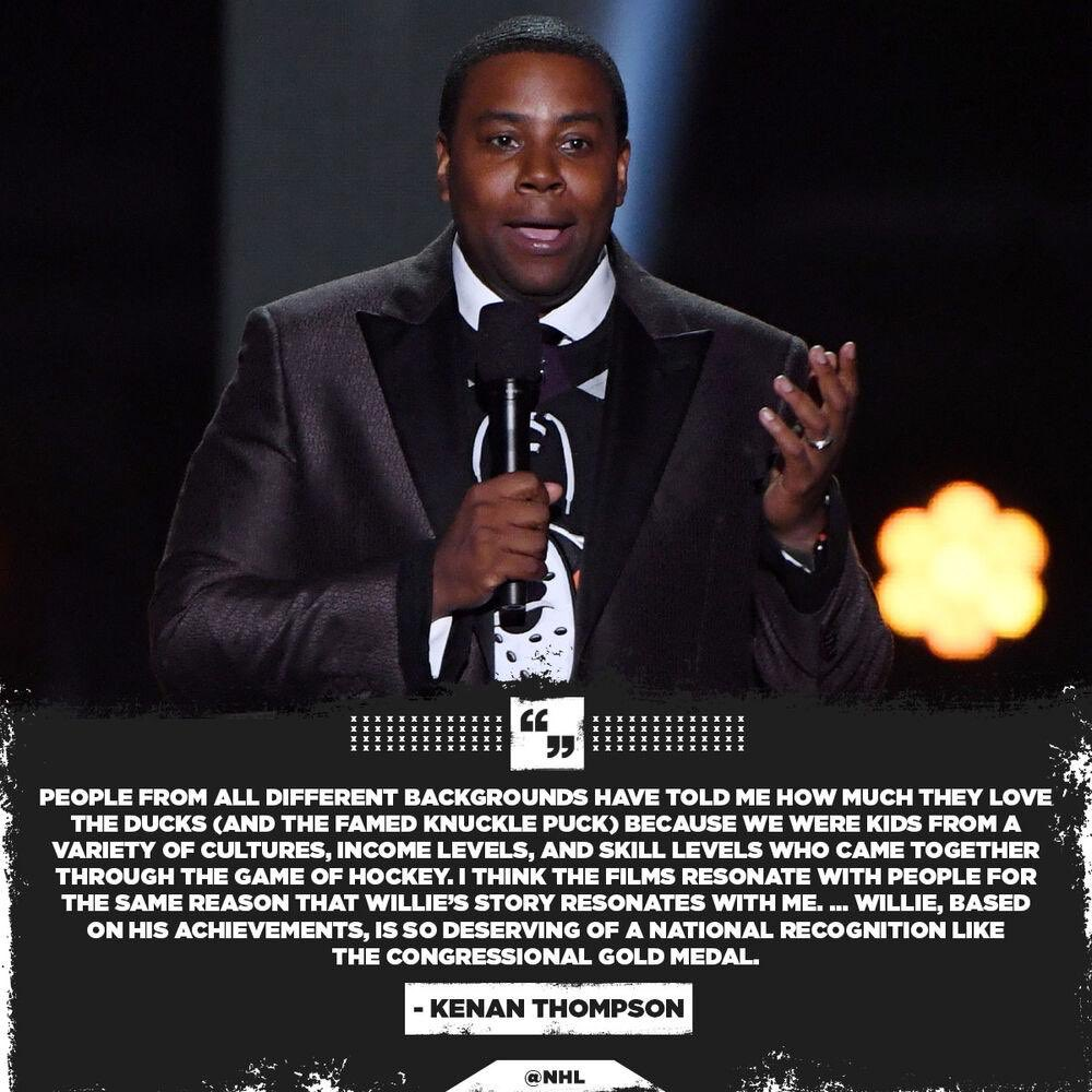 Kenan Thompson Pushes For Willie O'Ree To Receive Top Honor | iHeartRadio