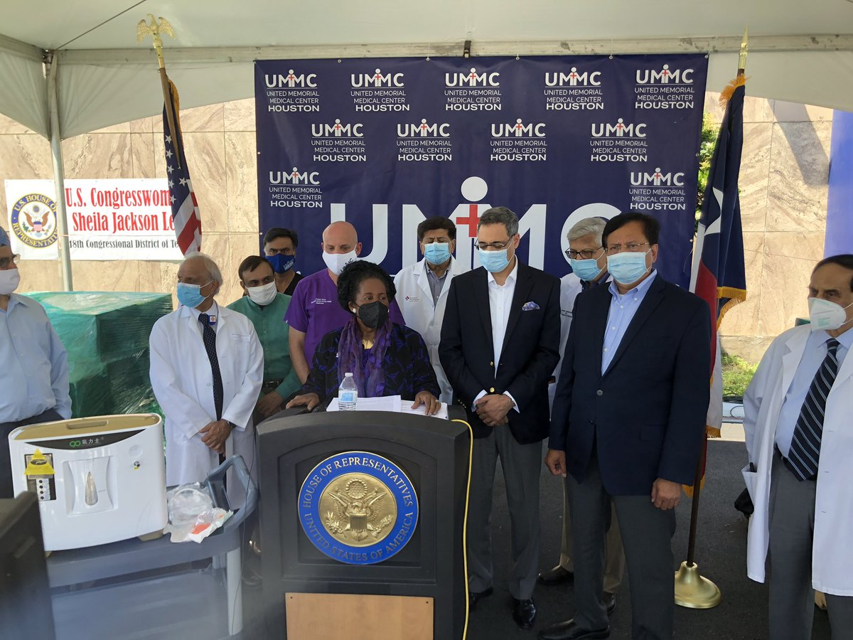Today, we announced humanitarian help to India and proposed travel of a mercy ship to India to help with the devastation of Covid-19. The situation in India is dire so we must organize and collaborate to provide the aide India needs. Thank you @cgihou, @HoustonUmmc, and leaders! https://t.co/cZUVyc6q8G