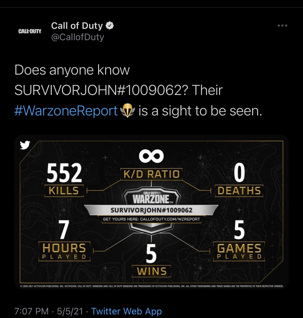 Warzone Photo,Warzone Twitter Trend : Most Popular Tweets