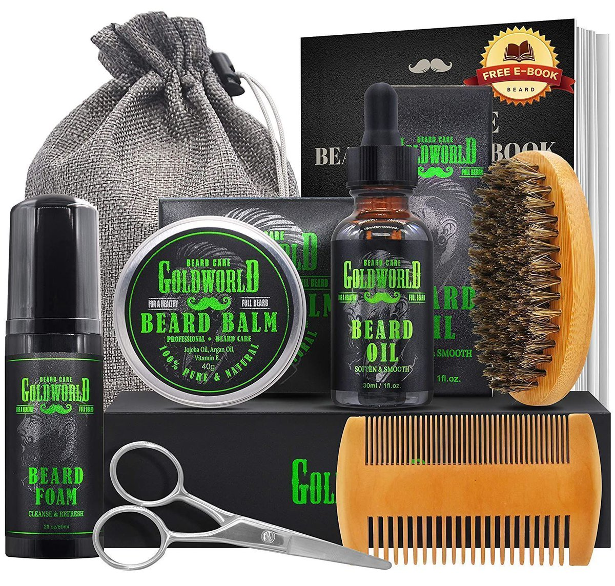 ad: $8.52   Beard Growth Grooming Kit   CLIP THE COUPON ON PAGE    Link0  Link0