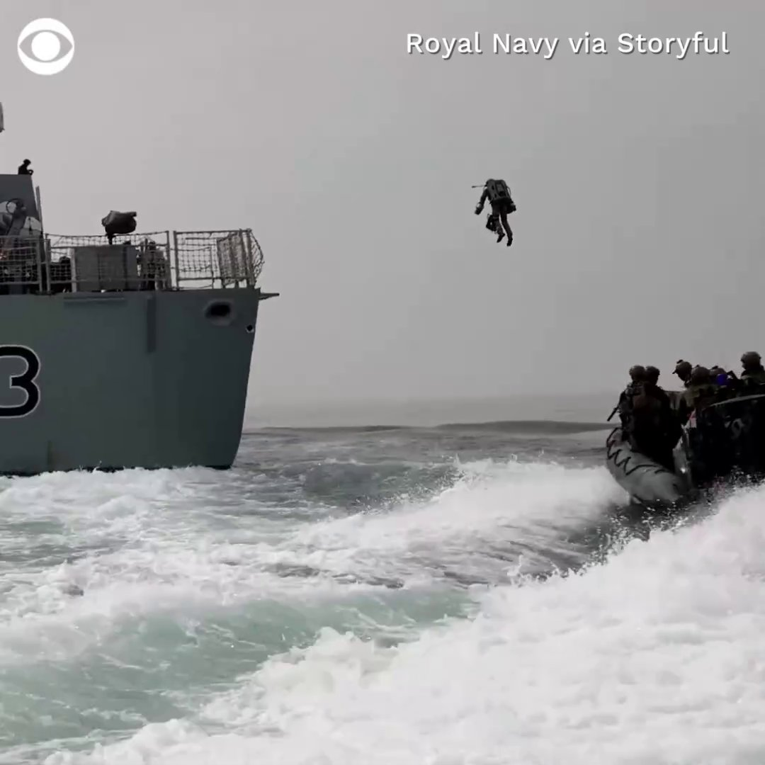 BLAST-OFF: Members of the British Royal Navy took a leap of faith over the open water last weekend — testing out a jet suit for maritime boarding operations by flying between boats and ships in England's Puget Sound https://t.co/PjKL37P3Pz