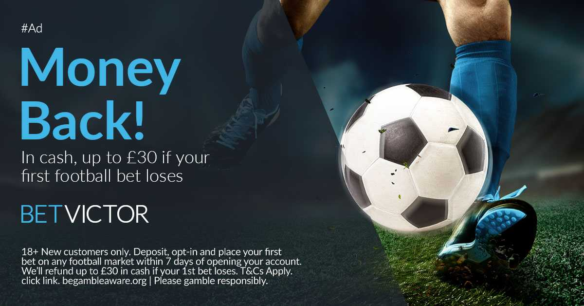 Betvictor Exclusive Offer £€30 Risk-Free Bet  New Customers 1. Place your first bet on any football market 2. Get a refund in cash if your 1st bet loses 3. up to £€30 in cash Link below https://t.co/EGd8pjOZwT  18+T&Cs GambleResponsibly #UEL  #ARSVIL #COYG #RomaManUtd #MUFC,1 https://t.co/8IJTb8fxEA
