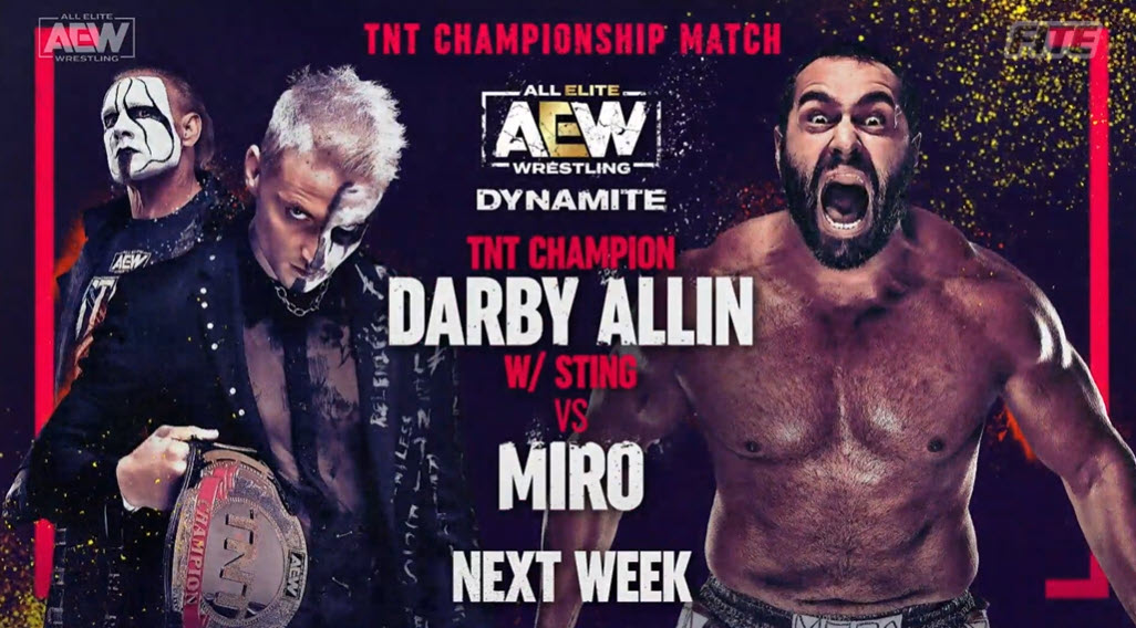 Darby Allin To Defend TNT Title Against Miro, World Title #1 Contender Match & More Announced For Next Week
