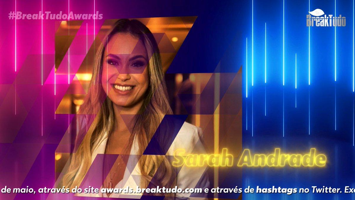 Votações abertas! Sarah Andrade está concorrendo ao troféu do BreakTudo Awards 2021 na 1ª fase da categoria Melhor Reality Star, vote agora mesmo no site https://t.co/3kIr0H5mFp ou vote no Twitter usando as hashtags #SarahAndrade e #RealityStar @ssarahandrade https://t.co/wW2s0ab9i8