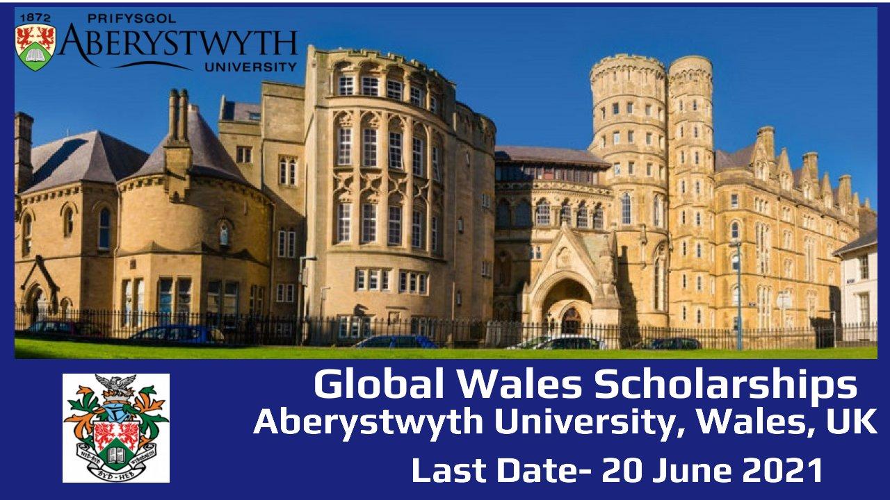 Global Wales Scholarships by  Aberystwyth University, Wales, UK