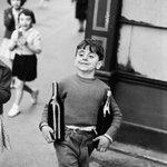 Image for the Tweet beginning: Henri Cartier-Bresson.  Rue Mouffetard