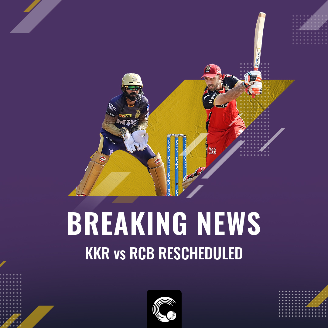 BCCI decided to reschedule the #KKRvsRCB fixture after Varun Chakravarthy and Sandeep Warrier tested positive for Covid-19.   #IPL2021 #KKR