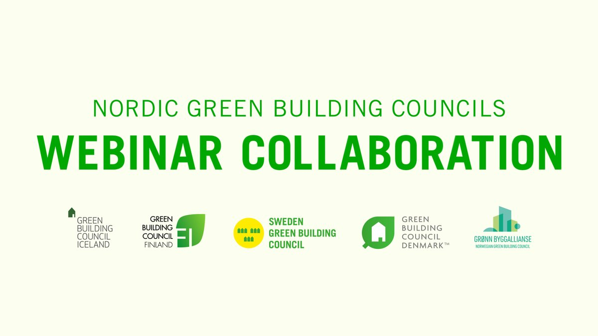 How can we halven the carbon emissions from construction? Don't miss our next nordic webinar. Sign up: https://t.co/4L5xyEcFX2 https://t.co/k75lKkolhk