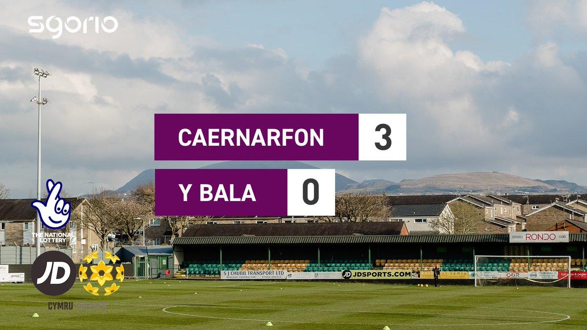 Image for the Tweet beginning: Uchafbwyntiau | Highlights  @CaernarfonTown 3-0 @BalaTownFC