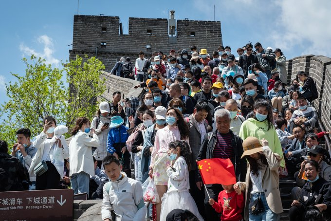 Chinese travel bookings triple during hottest public holiday since the pandemic Photo