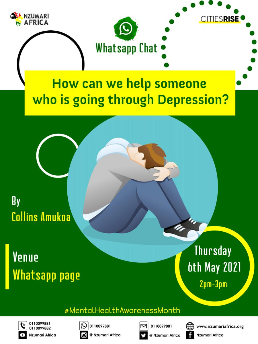 This afternoon on our WhatsApp group we look at how to help someone going through depression  #mentalhealthawarenessmonth     Follow the above link to join group