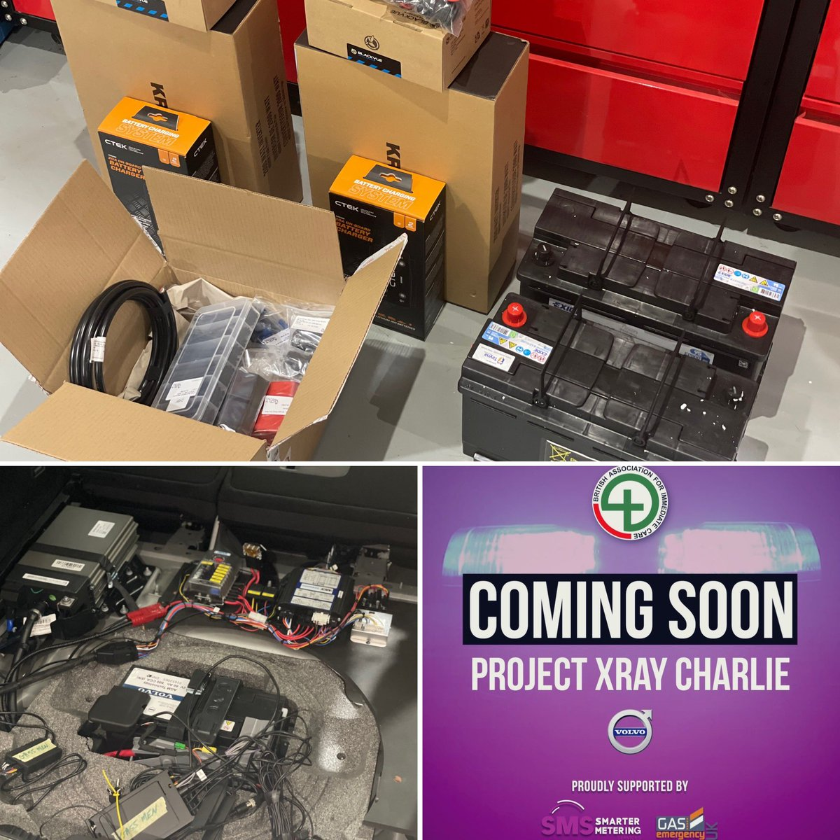 Our Dave's had his final delivery today for #projectxraycharlie! He's deep into installing ensuring they have back up power / inverters and dash cameras 📸 💥 #wontgoflatonjobs!