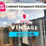 Image for the Tweet beginning: Nouveau ➡️ L'adhésif UltraClear  Un vinyle