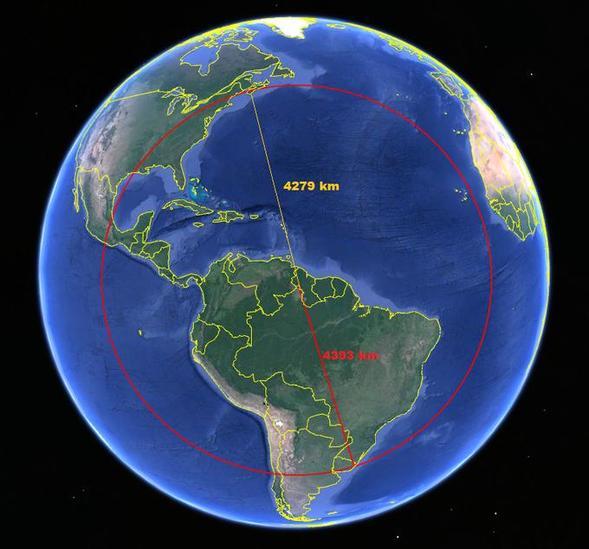 Étonnant ! Le point le plus au nord du Brésil est plus proche du Canada que le point le plus au sud du Brésil https://t.co/Ur0tTebI0v @Rainmaker1973 https://t.co/J9BJPWF5ug