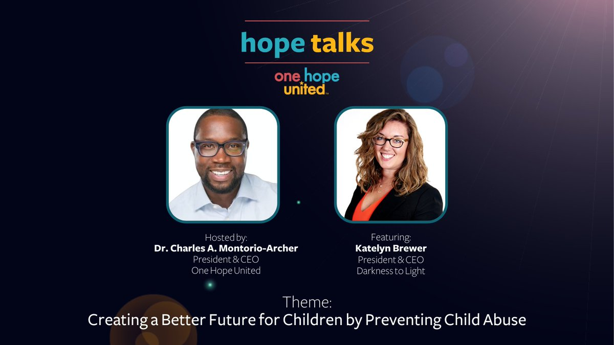 test Twitter Media - Don't miss our most recent episode of Hope Talks! The theme of this episode is Creating a Better Future for Children by Preventing Child Abuse.  View the episode: https://t.co/HoajY6DUnv  @MontorioArcher @Darkness2Light @KNBrewer7 #HopeTalks #OneHopeUnited #ChildAbusePrevention https://t.co/WnoCfxDUST