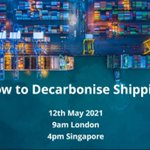 Image for the Tweet beginning: How to decarbonise shipping?🚢 Join