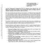 Image for the Tweet beginning: #arucastráfico #arucascircunvalación Próximas incidencias en