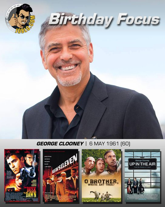 Wishing George Clooney a very happy 60th birthday!