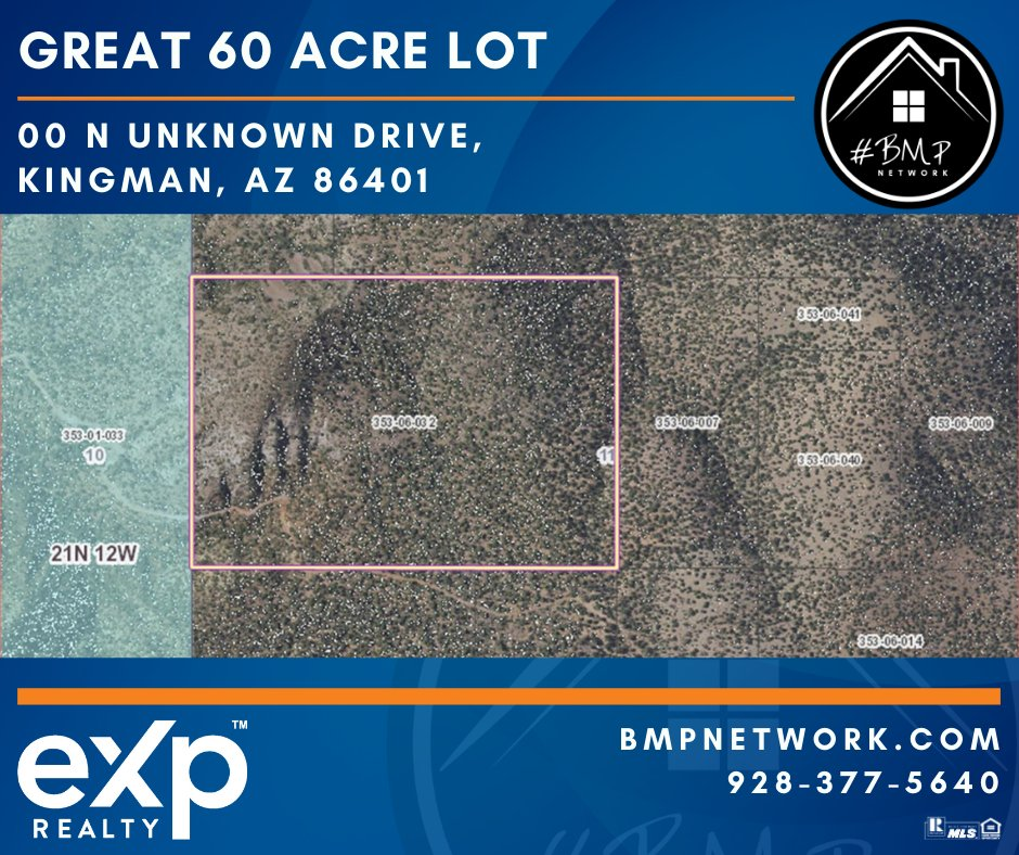 ⭐ GREAT 60 ACRE LOT!! ⭐ Info: https://t.co/Y7jWT8mO1P  BMP Network eXp Realty 928-263-6854  #RealEstate #Realtor #ForSale #LandForSale #LotsForSale #BuildYourDreamHome #eXpRealty #NewListing #HomesForSale #Property #Properties  #BMPNetwork #LandForSale #BMPDavid https://t.co/XggqMTMao3