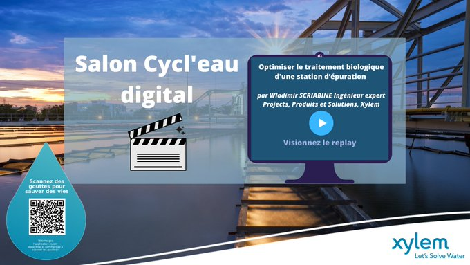 Découvrez le replay de la conférence de Wladimir SCRIABINE pour le salon @CYCL_EAU sur nos solutions pour optimiser le traitement biologique d'une sta...